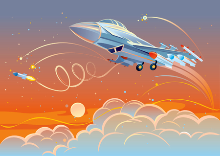 plane vector: Military fighter aircraft Illustration