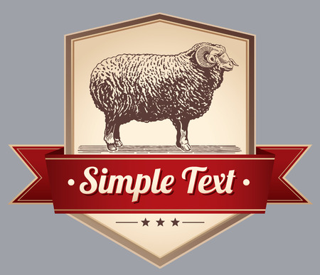label design: Graphically Sheep. Elements for label design. Illustration