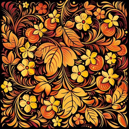 ornamental background: Russian traditional ornamental background. Illustration