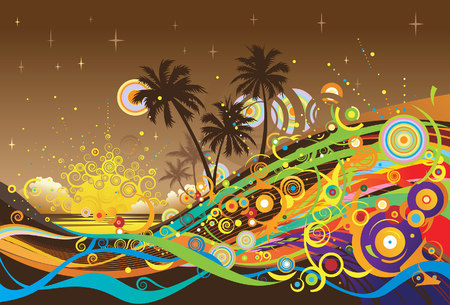 Vector background with graphic elements. Musical background.