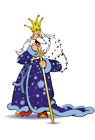 czar: Sleepy king, Character Illustration. Illustration