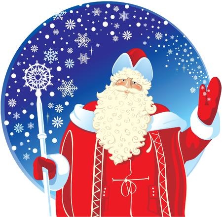 festive: Festive Santa Claus.