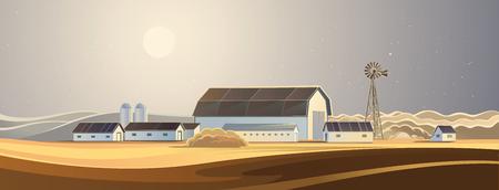 Le ranch. Paysage rural. Banque d'images - 47925344