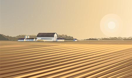 rural landscape: Rural landscape. Farm.