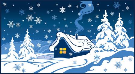 christmas winter: Fabulous winter landscape.