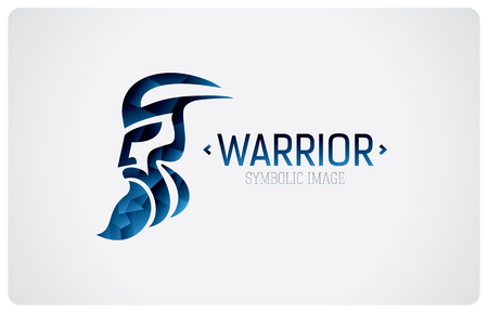 Symbolic image man, warrior. Signs symbol, design element