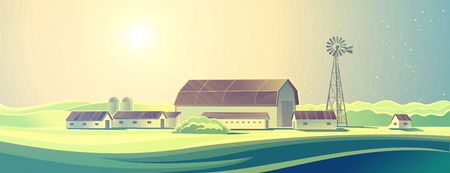 rural landscape: Rural landscape with farm.