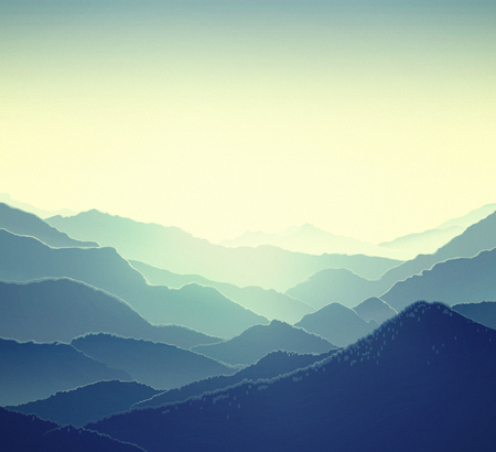 horizons: Mountain nature panoramic landscape.