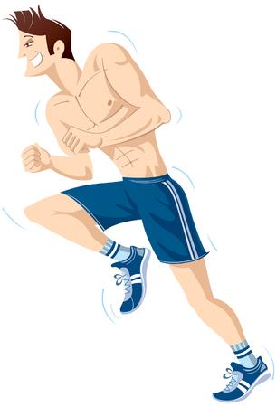 vivacity: The running men character. Illustration