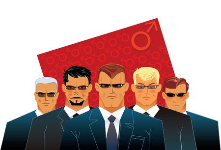 invincible: Men. Symbol illustration.