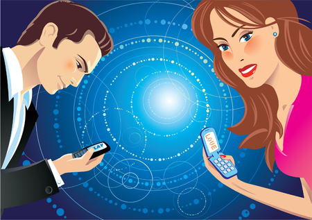 acquaintance: A girl and a guy talking through sms