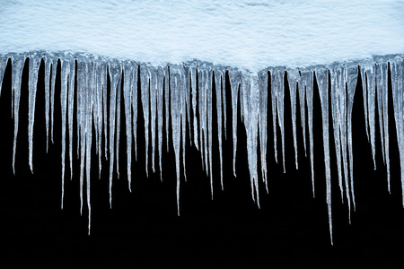 Icicles on an isolated background. Banque d'images