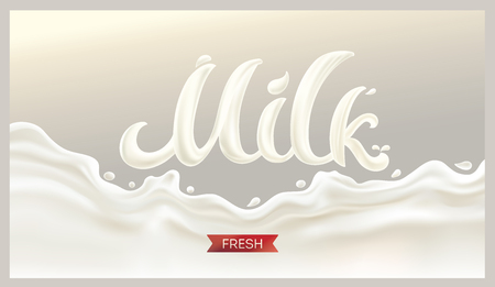 Splash milk on white background