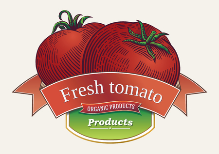 Tomatoes drawn in graphic style.