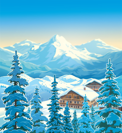 Winter mountain landscape. Stock Photo