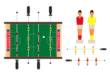 tabletop: Table football, kicker,