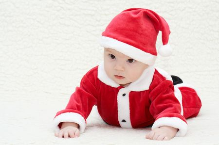 baby in santa's suit Stock Photo - 2619991