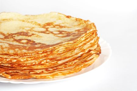stack of pancakes on the plate photo