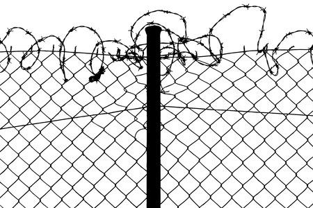 barbed wires: cable valla con alambres de p�as  Vectores
