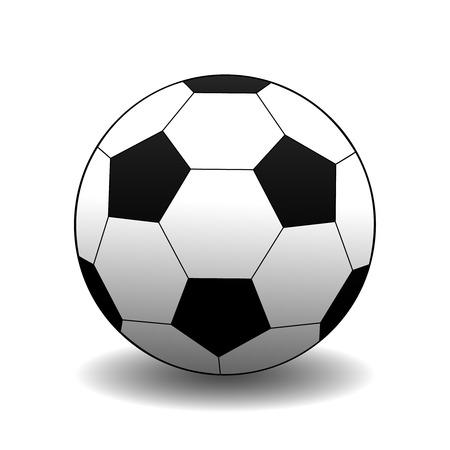 football ball with shadow Stock Vector - 3126394