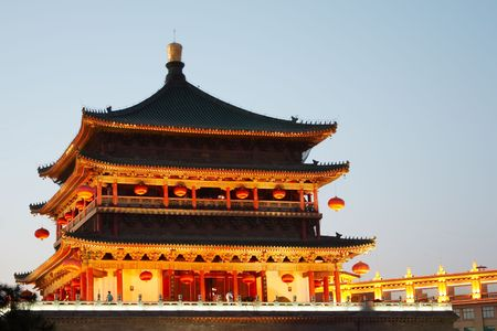 Bell Tower in the evening, Xian, China