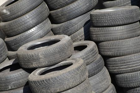 pile of used tyres Stock Photo - 3380241