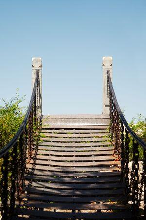 nowhere: footbridge to nowhere