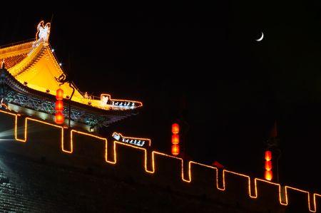 South gate of Xian at night photo