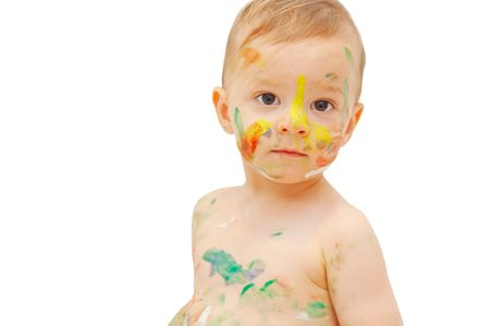 smudgy: painted boy