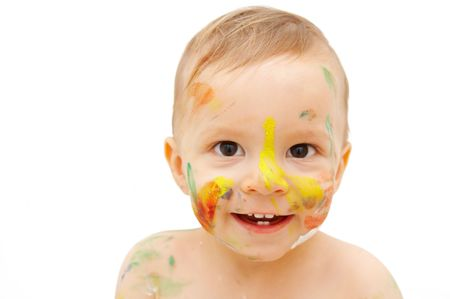smudgy: painted face Stock Photo