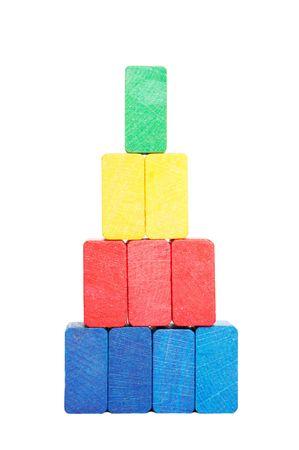 pyramid of color blocks photo