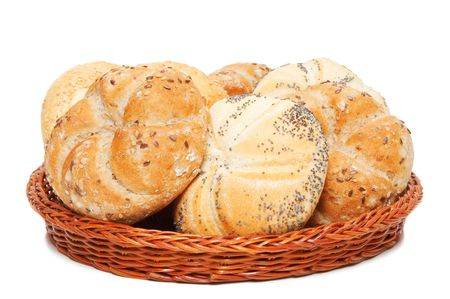 bakery products: basket with bakery products