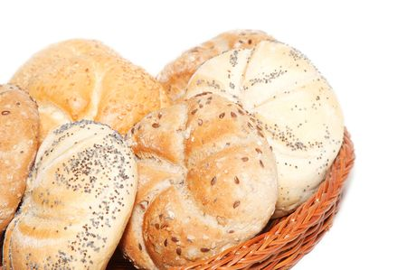 basket with bakery products photo