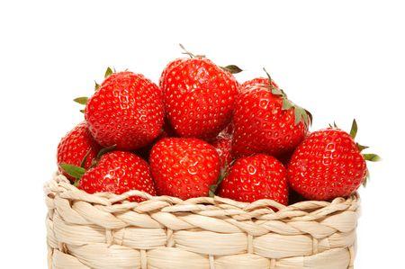 strawberries in basket photo