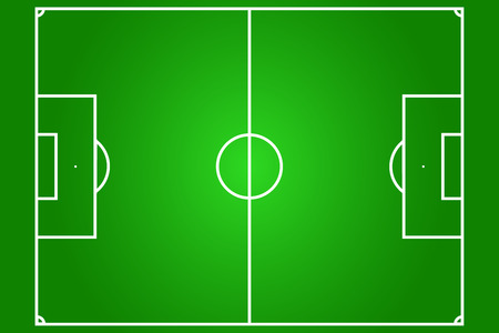 vector of football field, real proportion Vector