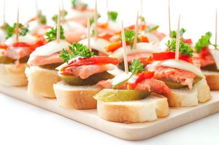 salmon ahumado: canap�s de pescado