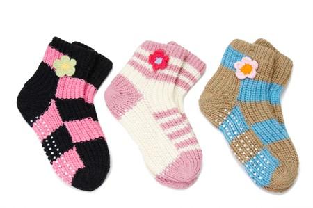 three pair of woolen socks photo
