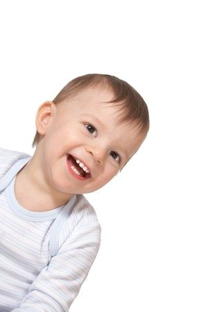 'hide out': laughing baby Stock Photo