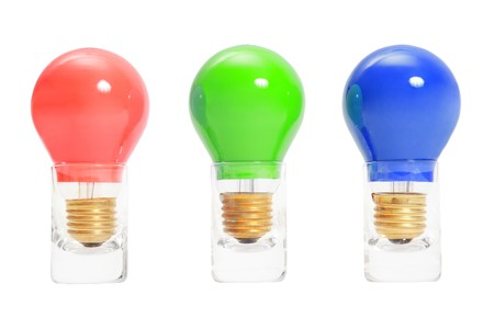 three light bulbs in a row Stock Photo - 4223226