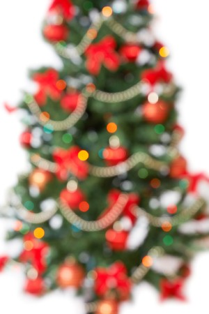 unfocused christmas tree background photo