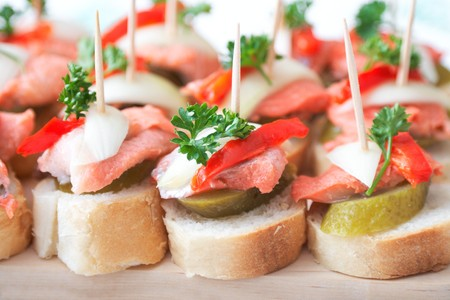 canapes with fish photo