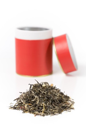 green tea with red can photo