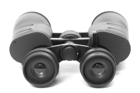 binoculars on white background photo