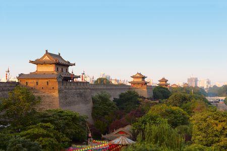 ufortyfikować: Xi'an miasta ścianie, Chiny Zdjęcie Seryjne