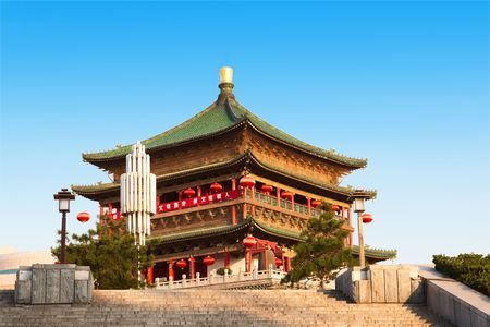 Bell Tower in Xian, China photo
