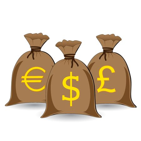 three full money sacks photo
