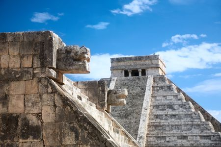 Chichen Itza, Mexico, one of the New Seven Wonders of the World, view from the Venus platform photo