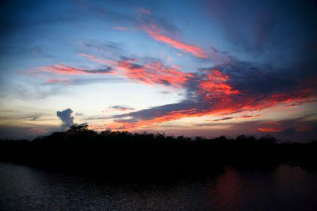 burning sky in Mexico photo