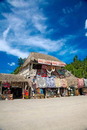 Market place at mayan ruins in Coba, Mexico photo