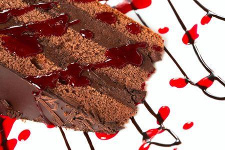 chocolate cake with decoration photo